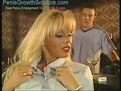 Blond milf with big tits double penetrated