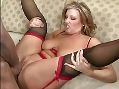 Amateur in sexy lingerie having sex
