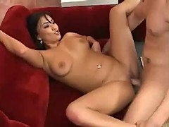 Avena Lee Fucked On Sofa.