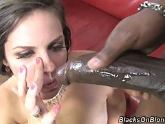 Bobbi Starr getting shoot with the cream of black cock