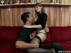 Red Head Beauty Faye Reagan in Stockings Getting Fucked By a Big Dick