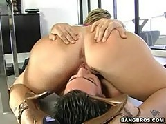 Licking ass with sara jay