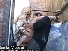 Shyla Stylez fucking hard in a parking alleyway